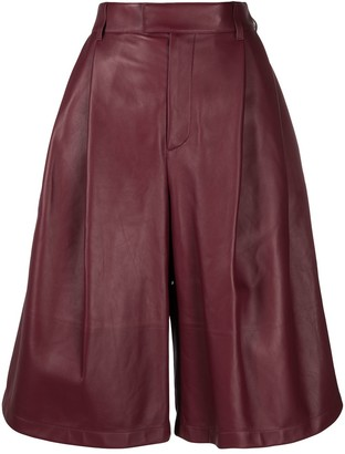 Bottega Veneta High-Waist Wide-Leg Shorts