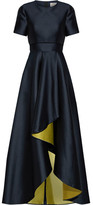 Jason Wu Asymmetric Satin Gown - Midnight blue