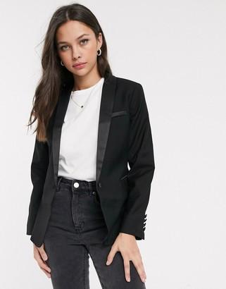 New Look tux suit blazer in black