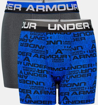 Under Armour Boys' UA Wordmark Boxerjock 2-Pack
