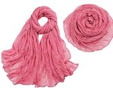 Women Cotton Scarf Soft Wrap Shawl Ninasill Scarf (Rubber red)