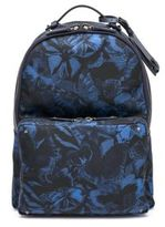 Valentino Butterfly-Print Nylon & Leather Backpack