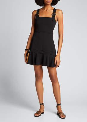 Jonathan Simkhai Clara Crepe Flounce Mini Dress