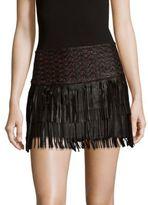 Parker Raven Leather Skirt