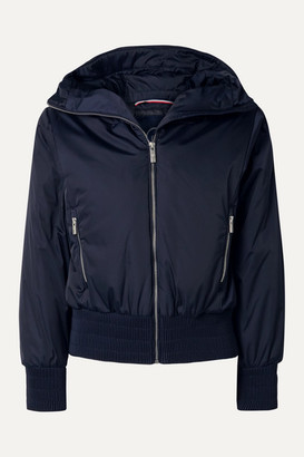 Fusalp Melly Velvet-trimmed Hooded Ski Jacket - Midnight blue