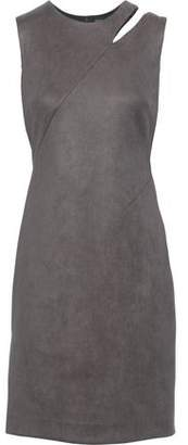 Milly Cutout Faux Suede Mini Dress