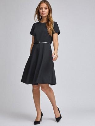 Dorothy Perkins Petite Belted Dress -Black