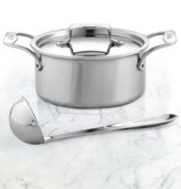All-Clad BD5 Brushed Stainless Steel 3 Qt. Covered Soup Pot with Ladle