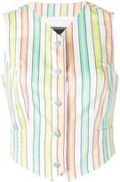 Versace Pre Owned 1990's candystripe waistcoat