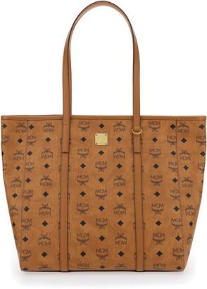 MCM Monogram Print Shopper Bag