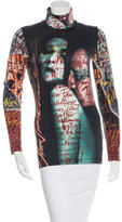 Jean Paul Gaultier Printed Turtleneck Top
