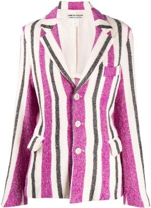 Comme Des Garçons Pre-Owned 1990s Striped Slim-Fit Jacket