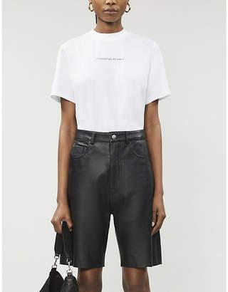 LES COYOTES DE PARIS Lia logo-print cotton-jersey T-shirt