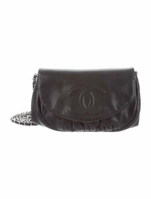 Chanel Half Moon Wallet On Chain Black