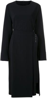Gloria Coelho Long Sleeves Midi Dress
