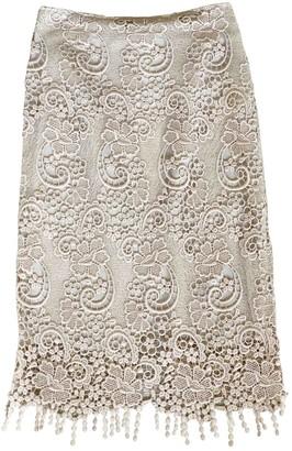MSGM Beige Cotton Skirt for Women