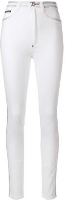 Philipp Plein Crystal Embellished Skinny Jeans