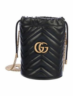 Gucci Mini GG Marmont 2.0 Matelasse Bucket Bag Black