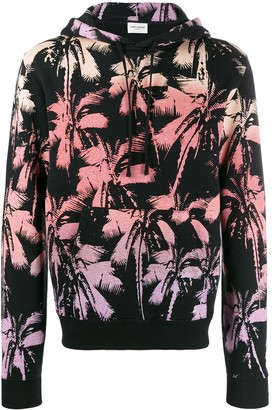 Saint Laurent Palm Tree Print Hoodie