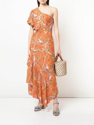 Johanna Ortiz Tropical Print Maxi Dress Orange