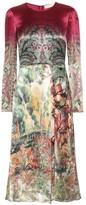 Etro Printed satin midi dress