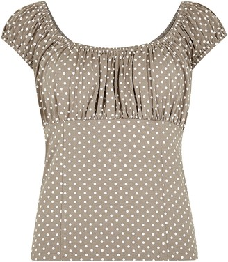 New Look Light Spot Square Neck Top
