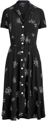 Polo Ralph Lauren Hampton Belted Floral Dresss