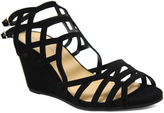 City Classified Black Behave Wedge Sandal