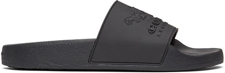 Coach 1941 Black Rubber 3D Logo Slides