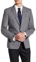 Ben Sherman Donegal Faux Leather Single Button Peak Lapel Jacket