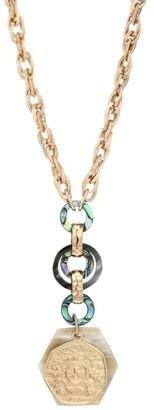 Akola 10K Goldplated Abalone Chain Pendant Necklace