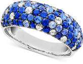 Effy Saph Splash by Shades Of Sapphire Band Ring (2-7/8 ct. t.w.) in Sterling Silver