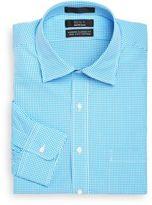 Saks Fifth Avenue BLACK Classic-Fit Mini-Gingham Dress Shirt