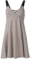 P.A.R.O.S.H. V-neck flared dress - women - Cotton/Acrylic/Polyamide/Wool - S