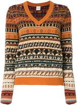 Paul Smith v-neck fair isle sweater