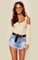 MinkPink francis cold shoulder knit top