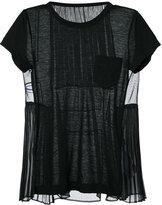 Sacai classic top - women - Linen/Flax/Polyester - 3