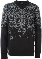 Just Cavalli safety pin print sweatshirt