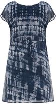 Junarose Plus Size Snake print drawstring chiffon dress