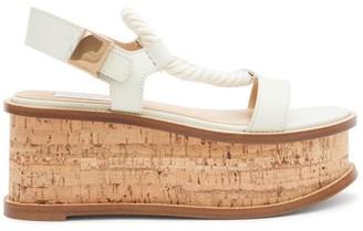 Gabriela Hearst Danae Cork-midsole Nappa-leather Flatform Sandals - Womens - White