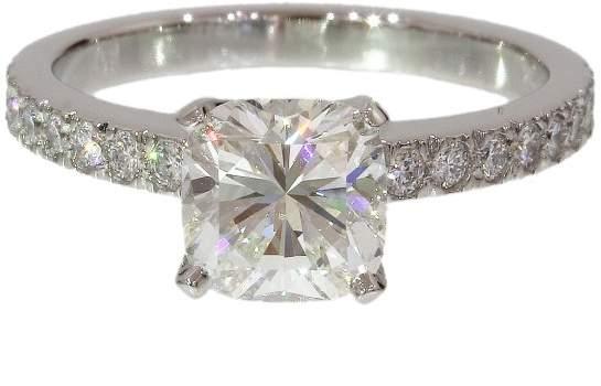 Tiffany & Co. 950 Platinum & 1.07ct Diamond Ring Size 4.5