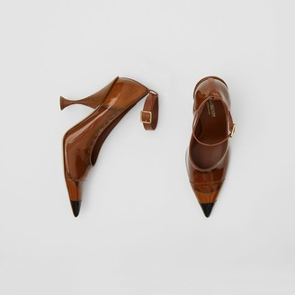 Burberry Vinyl and Leather Point-toe Pumps