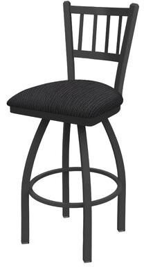 "Holland Bar Stool Contessa 25"" Swivel Bar Stool Color: Pewter, Upholstery: Graph Anchor"