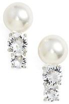 Nadri Faux Pearl Stud Earrings
