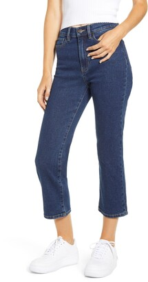 Prosperity Denim High Waist Straight Leg Crop Jeans
