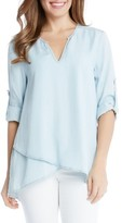 Karen Kane Women's Wrap Hem Chambray Top