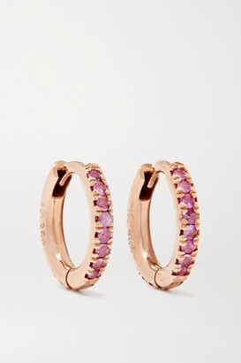 Ileana Makri 18-karat Rose Gold Sapphire Hoop Earrings - one size