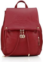 myston Women Soft Leather Fashion Backpack Casual Daypacks Cute Shoulder Bag Purse with Multi Pockets
