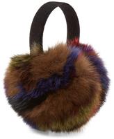 Surell Fox Fur & Velvet Earmuffs