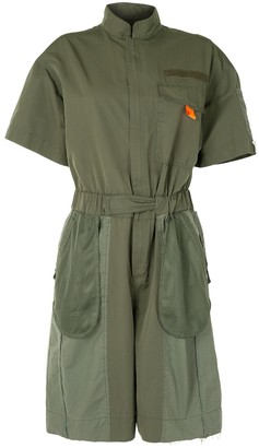 Re Code Exposed-Pocket Military Playsuit